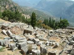 Templul Delphi - Ruine
